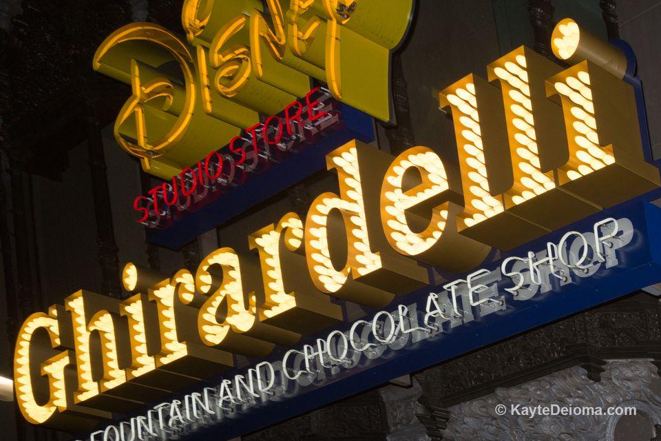 Ghirardelli Soda Fountain and Disney Studio Store