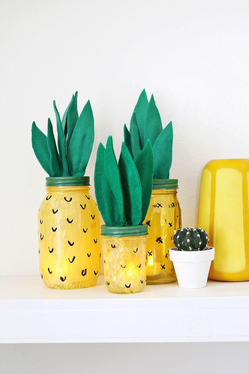 DIY Pineapple Luminary Jar