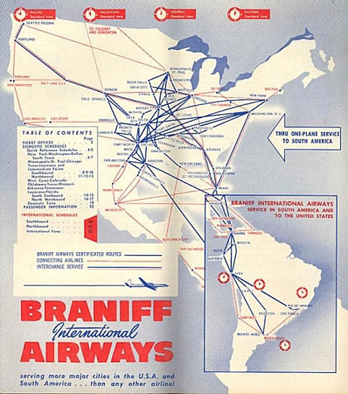 FlashbackFriday Classic Airline Route Maps - Route map us airways