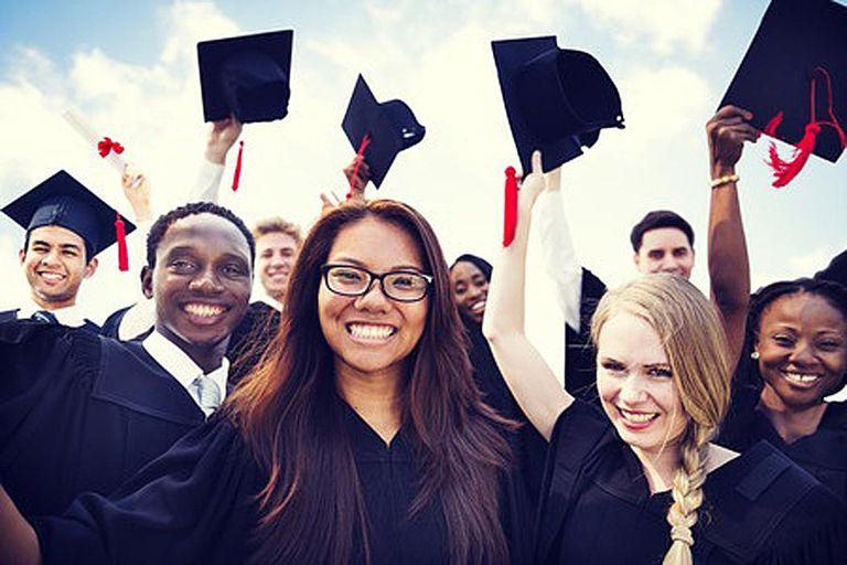 High School Students Graduating