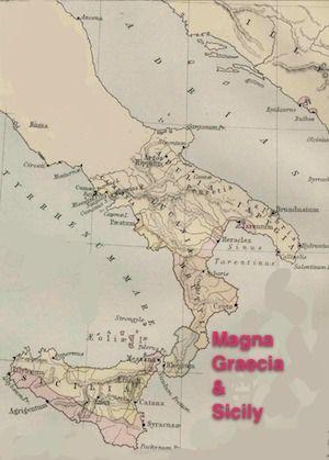 Map of Magna Graecia