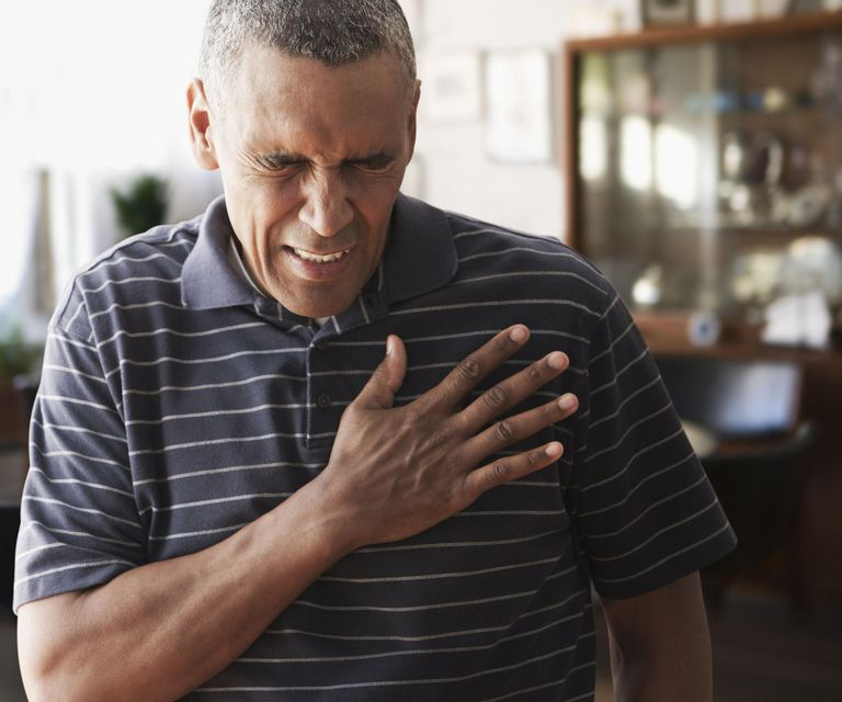 Mature man with chest pains
