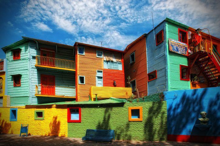 Traditional alley in La Boca neighborhood of Buenos Aires, Argentina.