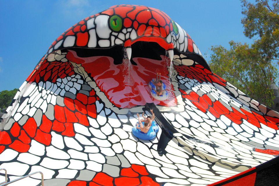 King Cobra water slide at Six Flags in NJ