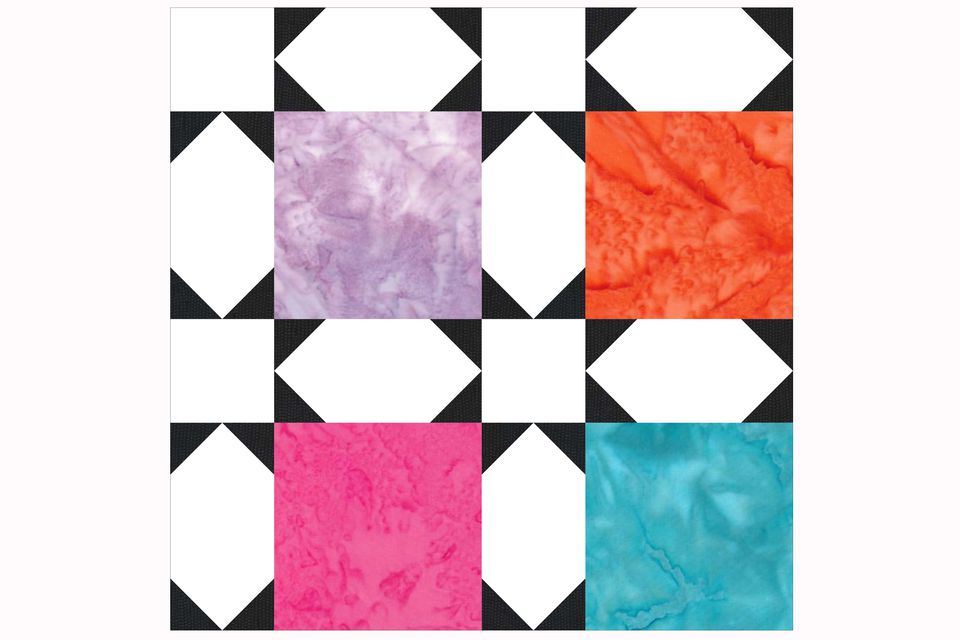 Early Morning Star Quilt Block Pattern