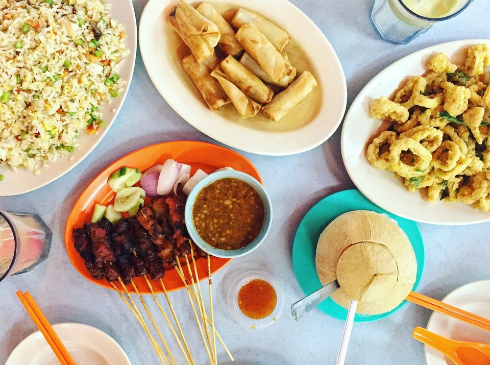 Directly Above Shot Of Malaysian Food Served On Table
