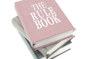 The Rule Books isolated on white background