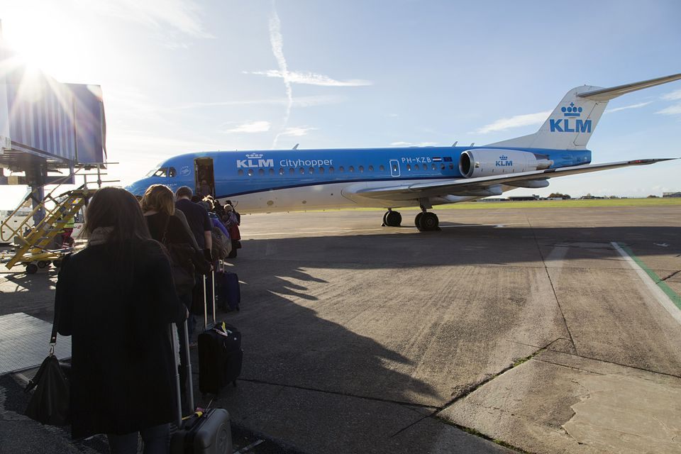 Boarding a KLM City Hopper