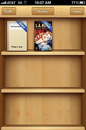 iBooks bookshelf