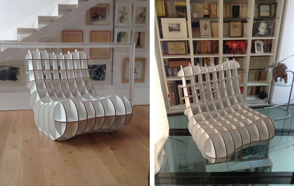 diy cardboard furniture. DIY This Striking Cardboard Chair By MillstStudio. MillstStudio Diy Furniture Y