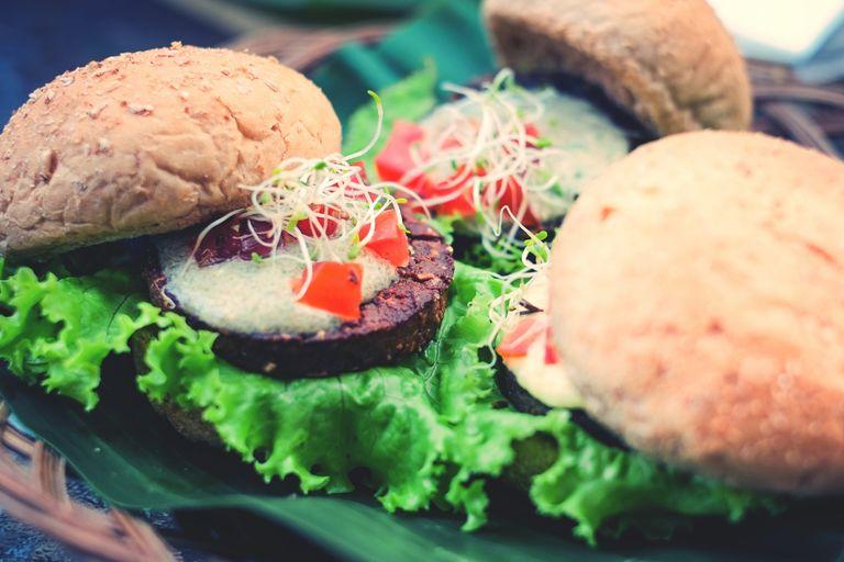 Close-Up of Burgers