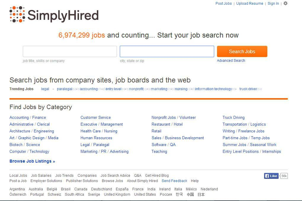 simplyhired com job search site review