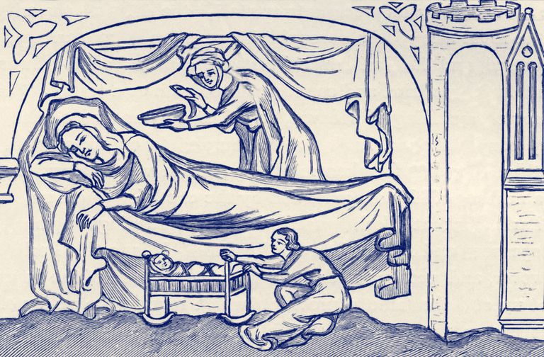 Bed and Cradle - early 14th century