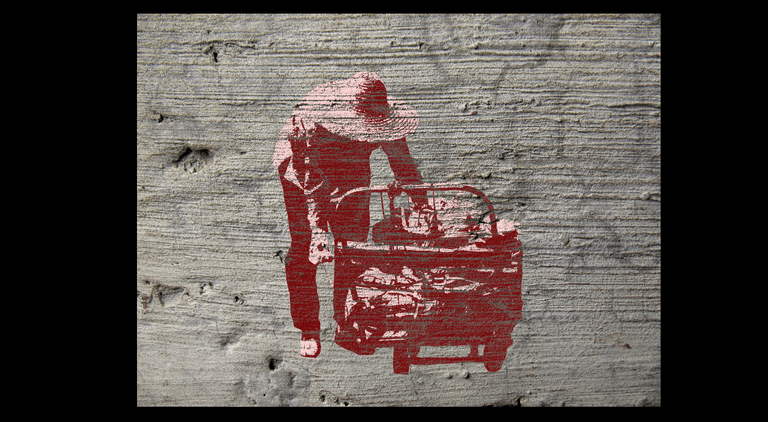 The image is blended into the concrete texture
