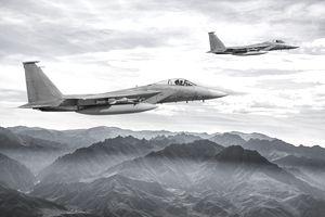 F-15 Eagles in Flight