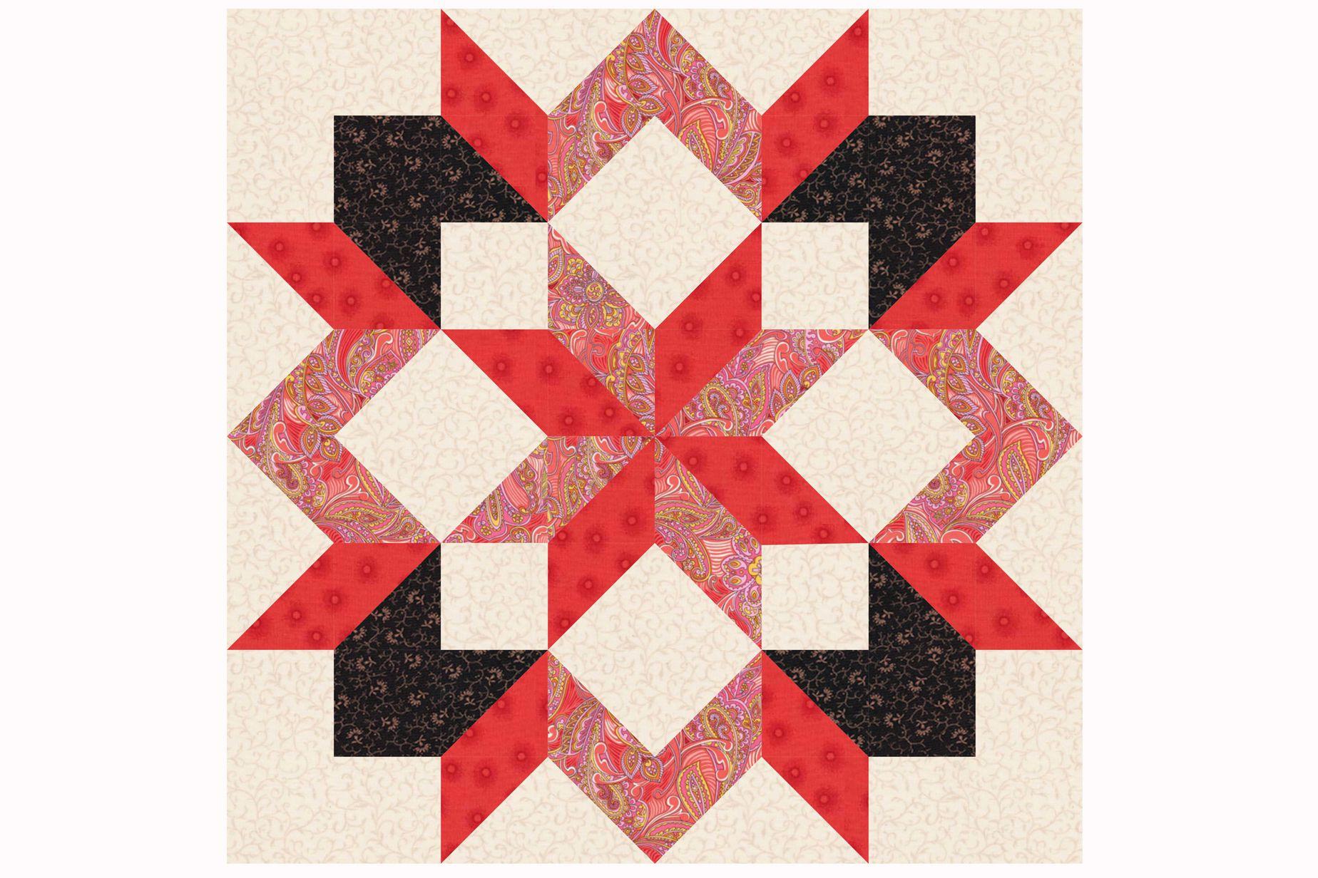 Easy Hunter's Star Quilt Pattern : easy star quilt - Adamdwight.com