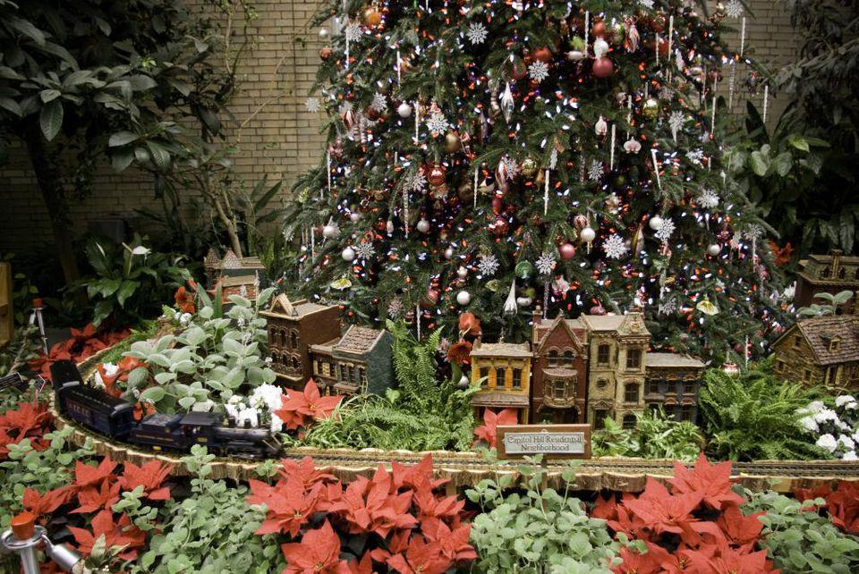 U s botanic garden christmas display washington dc for Botanical gardens dc christmas