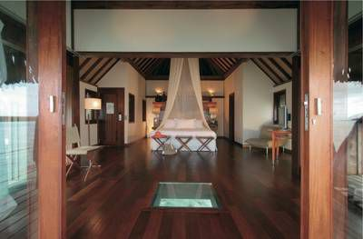 Interior Of Luxury Overwater Bungalow At The Sofitel Moorea Ia Ora Beach Resort