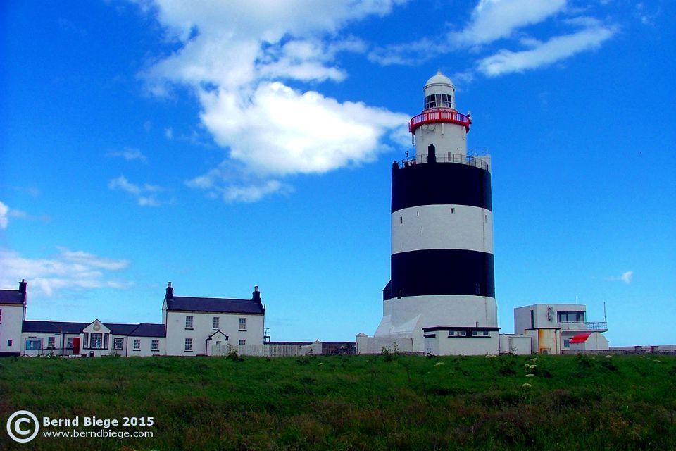 Hook Head Lighthouse on a Sunny Day