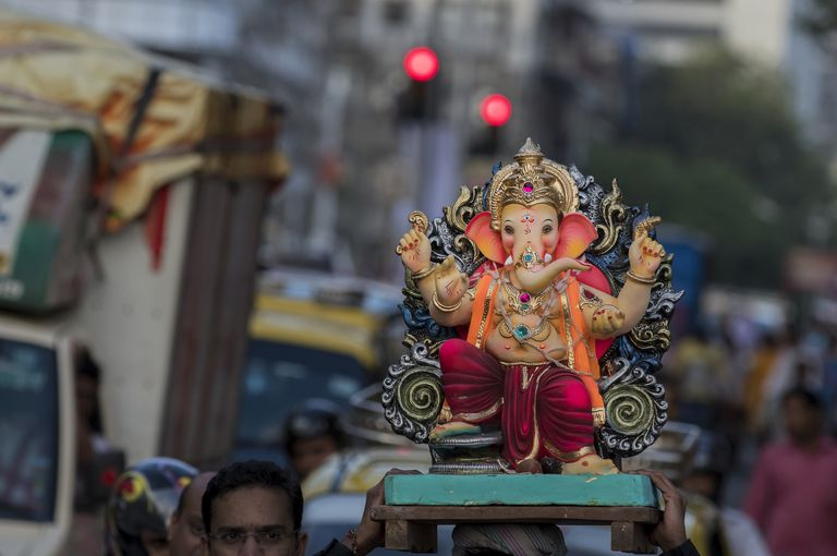 The Ganesh or Elephant lords for immersion in Mumbai, India