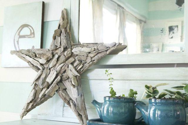 Driftwood star DIY idea