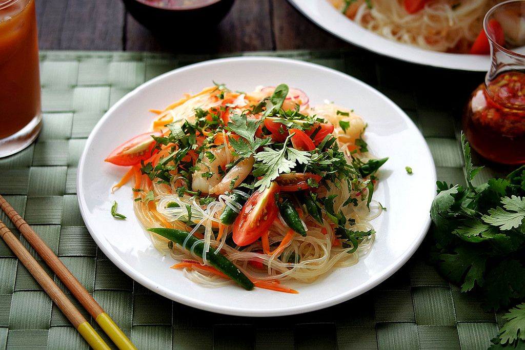 Thai Rice Noodle Salad With Chili Lime Vinaigrette Recipe