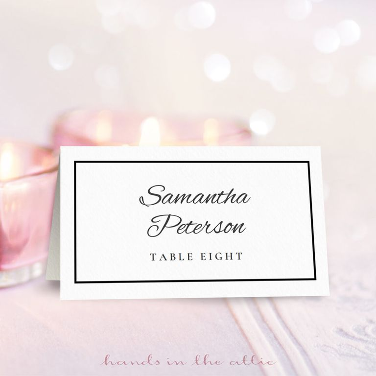 9 sets of wedding place card templates for Place card for wedding