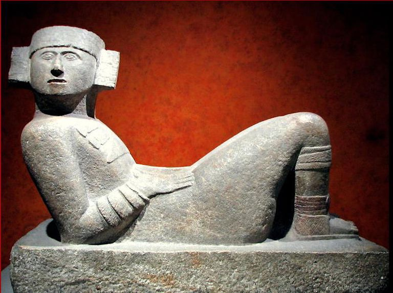 Maya chacmool from Chichen Itza displayed at the National Museum of Anthropology