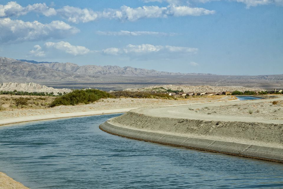 Irrigation Canal Near Palm Springs