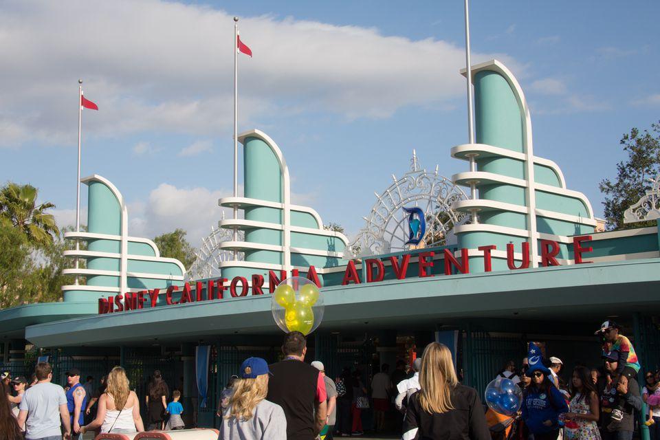 Entrance to Disney California Adventure in Anaheim, CA