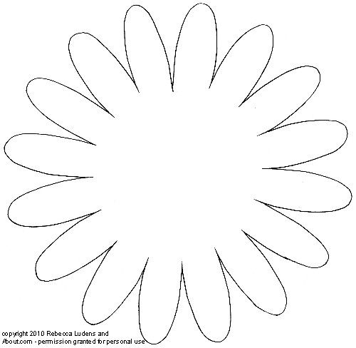 Flower patterns and templates for scrapbooking intricately petaled flower sketch pronofoot35fo Gallery