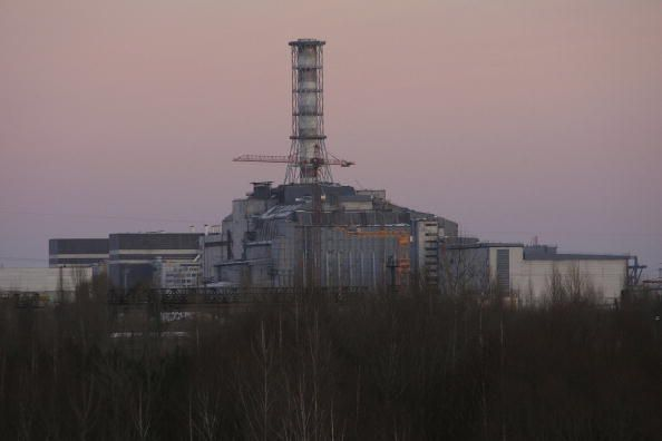Chernobyl plant in sarcophagus