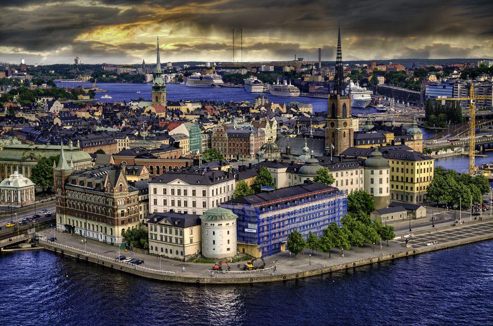 Stockholm's skyline.