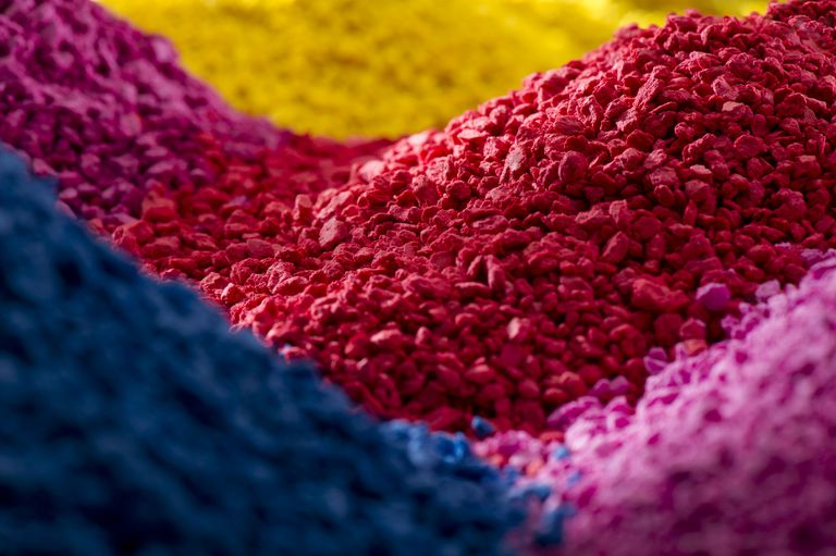 coloured polymer compounds