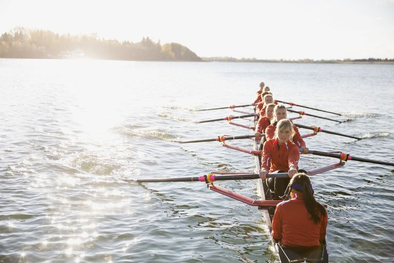 Rowing team in a scull