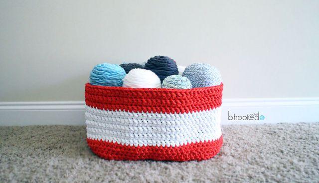 Yarn Stash Crochet Basket Pattern