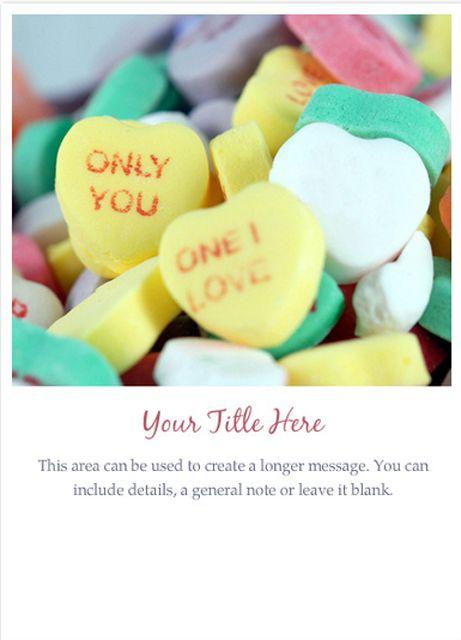 a valentine ecard with conversation hearts - Free Valentine