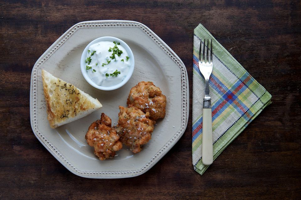 Plate of salmon fishcakes
