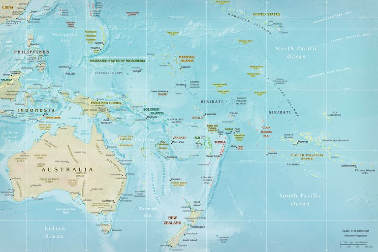 Discover oceanias 14 countries by area gumiabroncs Choice Image