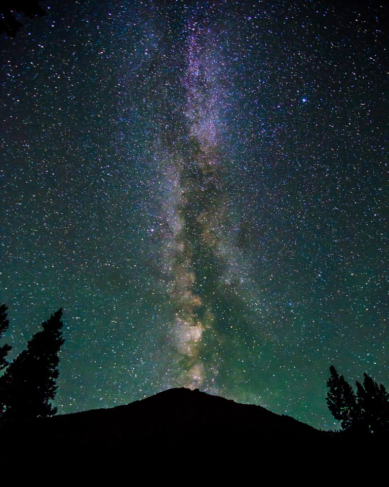 The Milky Way over Mount Elbert