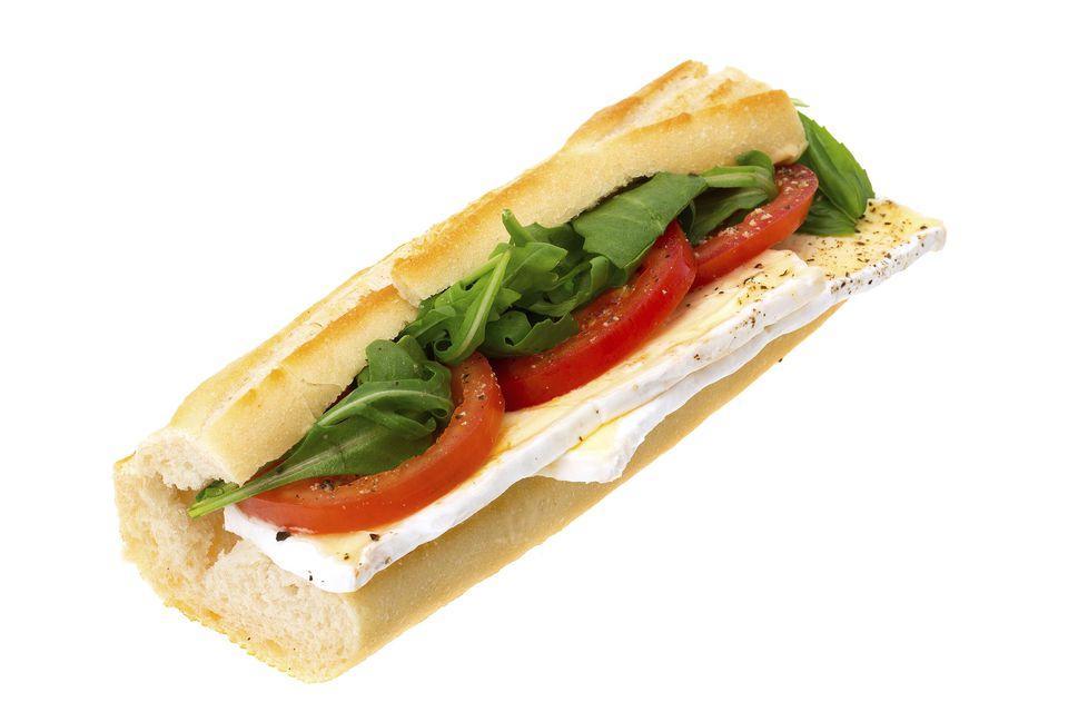 Tomato Brie Basil Sandwich