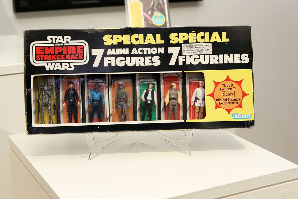 A set of first edition star wars action figures