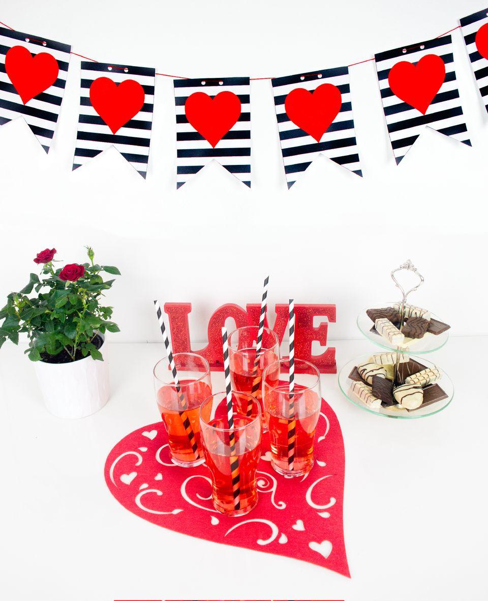DIY Valentine's Day Printable Banner