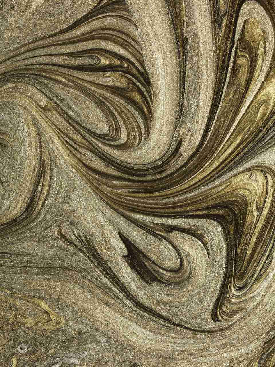 Glitter gold marbled paint swirl patterns