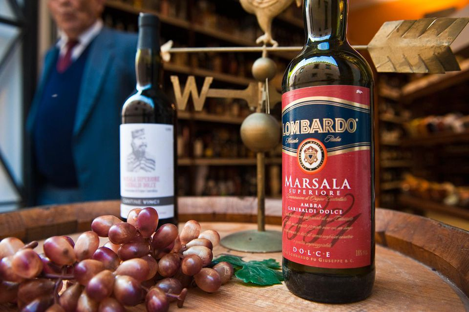 Italy, Sicily, Marsala, the city is famous because of its sweet wine