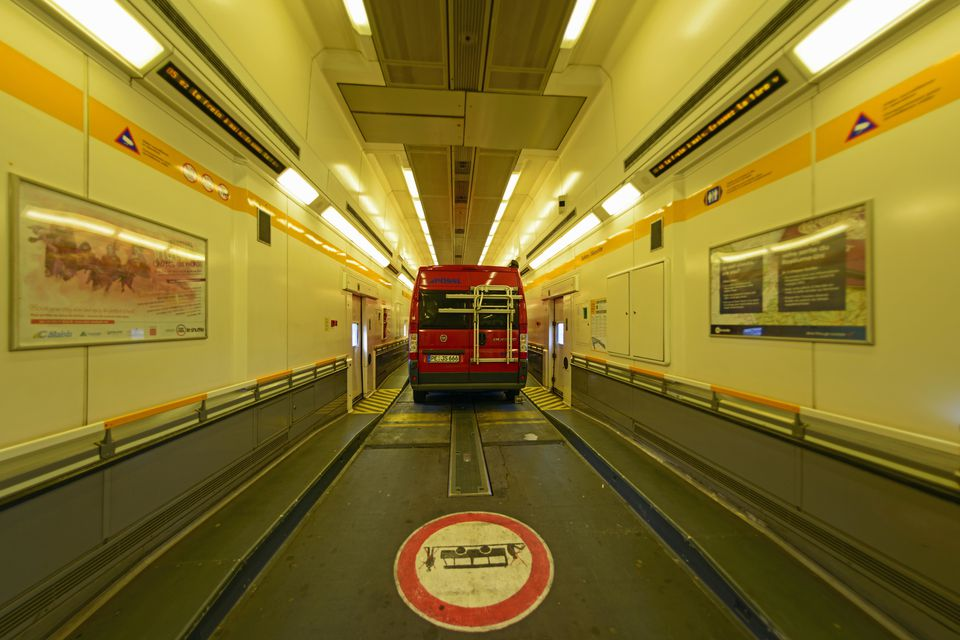 Eurotunnel Driving Through The Channel Tunnel