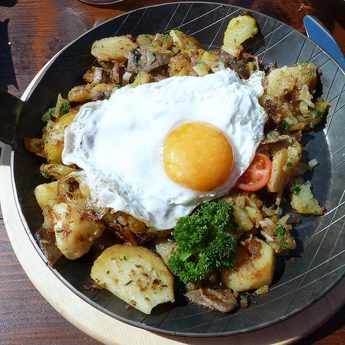 Tyrolean Groestl - Greaschtl - Fried Potatoes and Beef