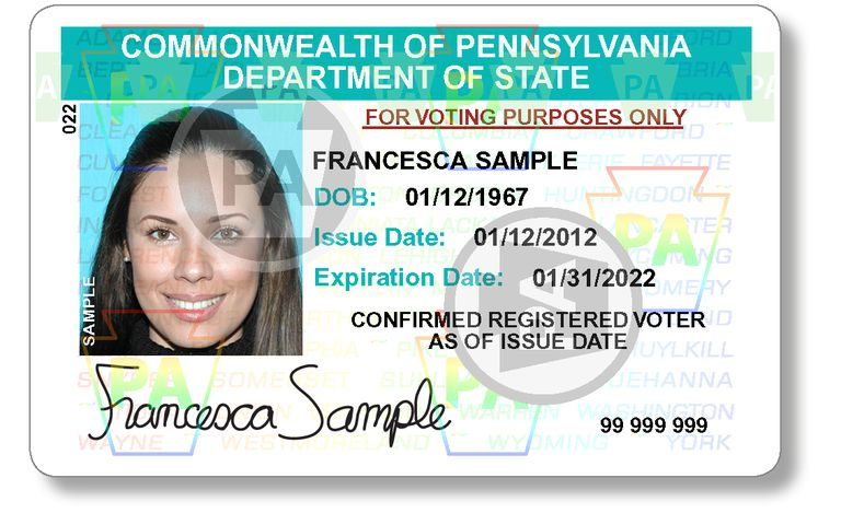 Pennsylvania Voter ID Card