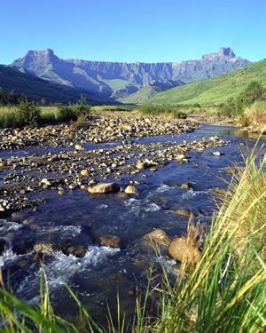 The Ampitheatre in the Drakensberg Mountains, South Africa