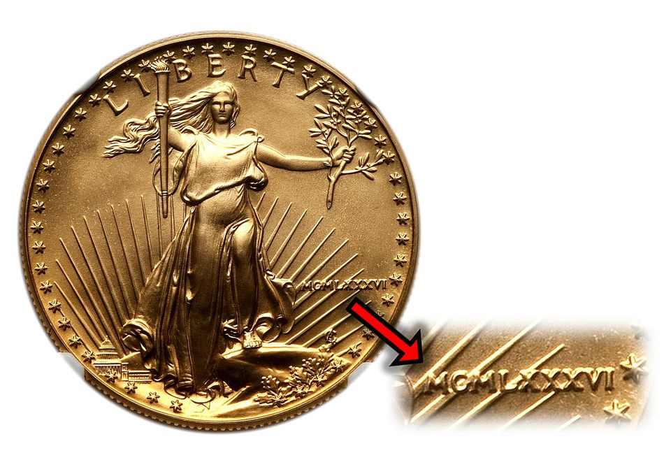 1986 $50 Gold American Eagle Bullion Coin